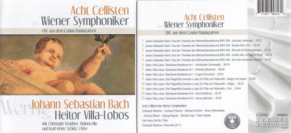 CD Cover Acht Cellisten Bach Villa Lobos
