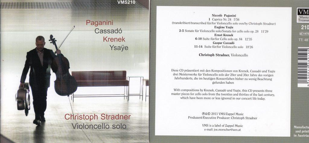 CD Cover Christoph Stradner Cello solo