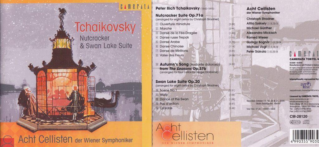 CD Cover Acht Cellisten Tschaikowski