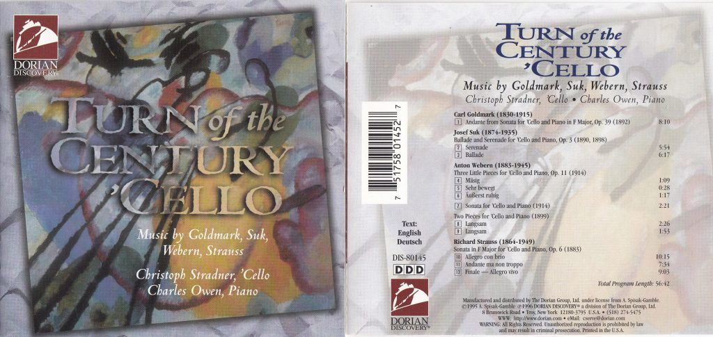 CD Cover Turn of the Century Cello