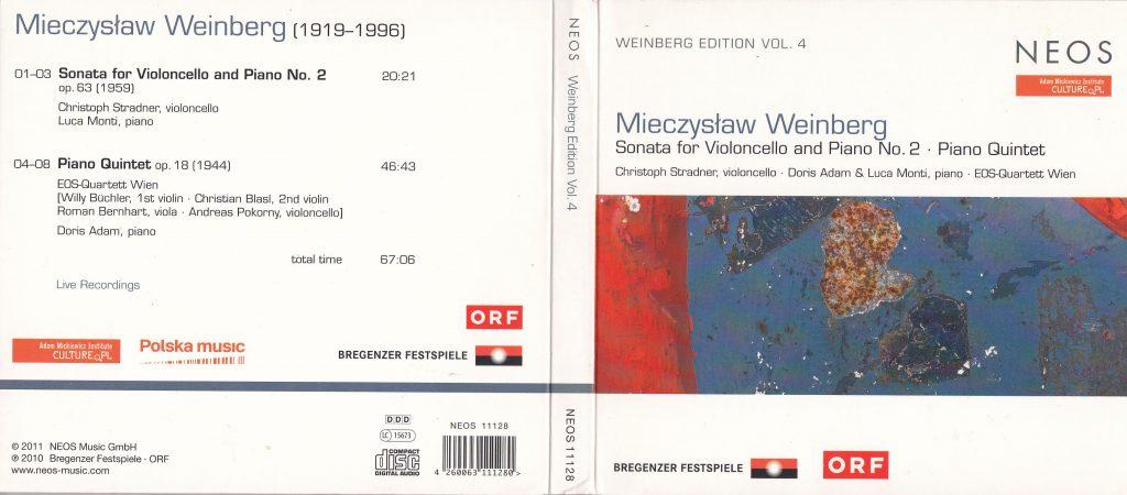 CD Cover Weinberg Cello Sonata