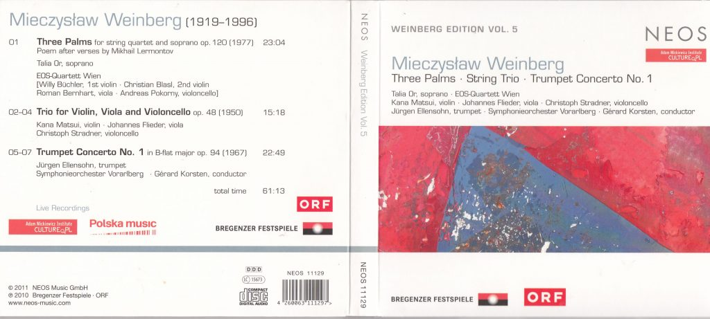 CD Cover Weinberg String Trio